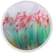 Fire-flowers-spring Round Beach Towel