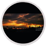 Fire From The North Round Beach Towel