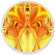 Fire Goddess Round Beach Towel