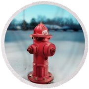 Fire Hydrant Round Beach Towel