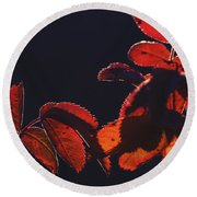 Fire In Hands  Round Beach Towel