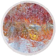Fire Inside Round Beach Towel