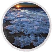 Fire Island Winter Round Beach Towel