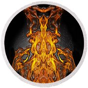 Fire Leather Round Beach Towel