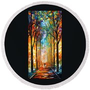 Fire Night Round Beach Towel