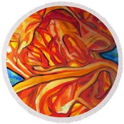 Fire, No Ice Round Beach Towel