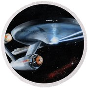 Fire Phasers Round Beach Towel