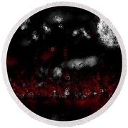 Fire Pixies Round Beach Towel