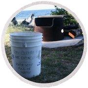 Fire Prevention - Vanvouver Island - Ca Round Beach Towel