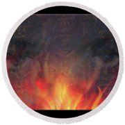 Fire Soul Round Beach Towel
