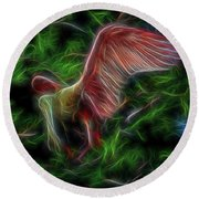 Fire Spirit 2 Round Beach Towel