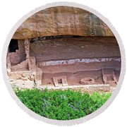 Fire Temple - Mesa Verde Nationalpark Round Beach Towel