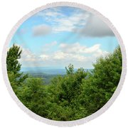 Fire Tower View - Pipestem State Park Round Beach Towel