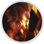 Fire Two Round Beach Towel by Arla Patch