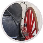 Fire Wagon Round Beach Towel