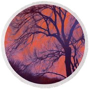 Fire Willow Round Beach Towel