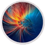 Fire Wind Round Beach Towel