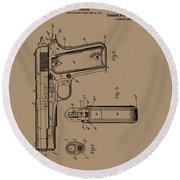 Firearm Handgun Round Beach Towel