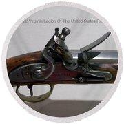 Firearms 1792 Virginia Legion Of The United States Rifle Round Beach Towel
