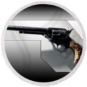 Firearms Tv Gunsmoke Marshall Dillon Colt Model 1873 Army Revolver Round Beach Towel