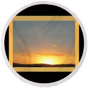 Fireball Sunset Round Beach Towel