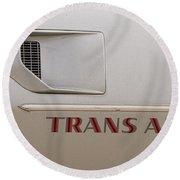 Firebird Trans Am Front Corner Panel Vent Round Beach Towel