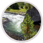 Firehole Fin Round Beach Towel