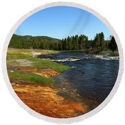 Firehole River Colors Round Beach Towel