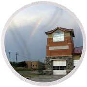 Firehouse Ranibow Round Beach Towel
