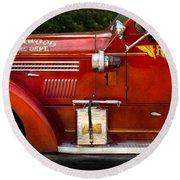Fireman - Garwood Fire Dept Round Beach Towel by Mike Savad