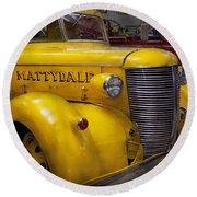 Fireman - Mattydale  Round Beach Towel