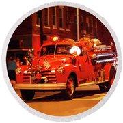 Fireman's Parade No. 3 Round Beach Towel