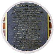 Fireman's Prayer Round Beach Towel