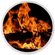 Firepit Round Beach Towel