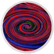 Fires Of Evil Wants Mother Earth Round Beach Towel