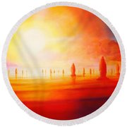 Firestone Round Beach Towel