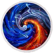 Firestorm Dancing With The Wind  Round Beach Towel