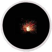 Firework Christmas Sparkle Round Beach Towel