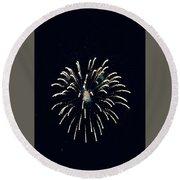 Firework  Round Beach Towel