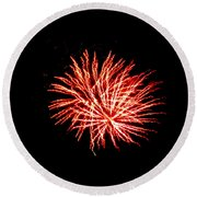 Firework Fireball Round Beach Towel