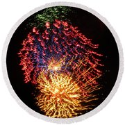 Firework Jewel Blast Round Beach Towel
