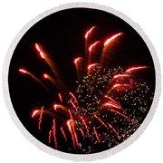 Firework Lights Of The City Round Beach Towel