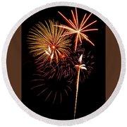 Fireworks 1 Round Beach Towel