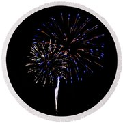 Fireworks 12 Round Beach Towel