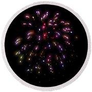 Fireworks 13 Round Beach Towel
