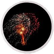 Fireworks 14 Round Beach Towel