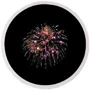 Fireworks 15 Round Beach Towel