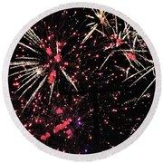 Fireworks 2018 Round Beach Towel