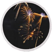 Fireworks 3 Round Beach Towel