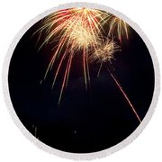 Fireworks 49 Round Beach Towel by James BO  Insogna